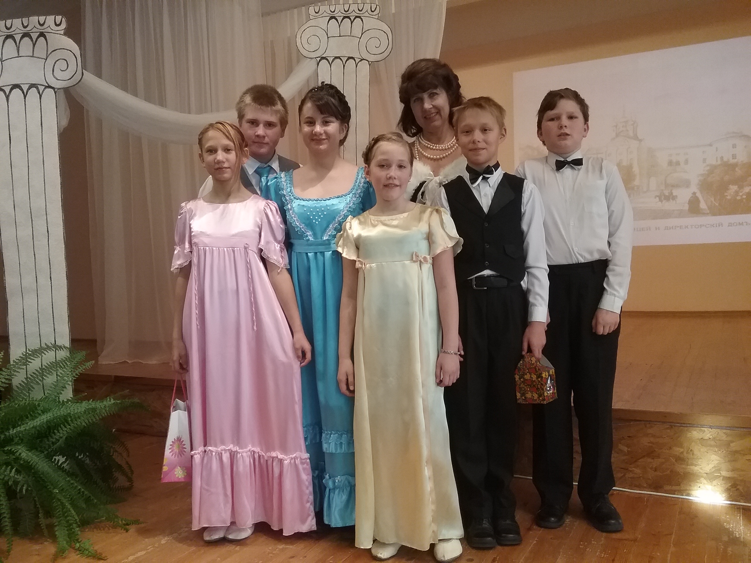18 октября в Паю школе состоялся традиционный «Осенний Пушкинский бал»