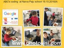 ABC's coding at Narva Paju school 19.10.2016